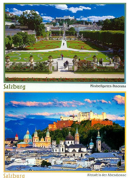Salzburg, Austria - Set of 2 Postcards
