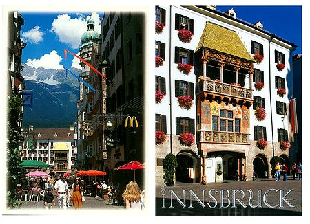 Innsbruck,Austria - Set of 2 Postcards
