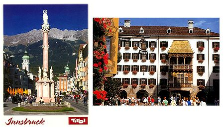 Innsbruke,Austria - Set of 2 Postcards