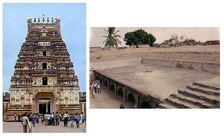 Sri Ranganatha Swamy Temple and Dunzeon, Srirangapatna  - Set of 2 Postcards