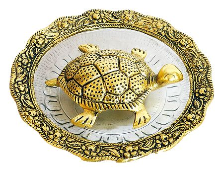 Vastu Tortoise Yantra on Glass Bowl for Longevity and Wealth
