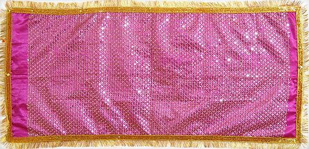 Magenta Chunni with Sequin and Golden Zari Work for Matarani