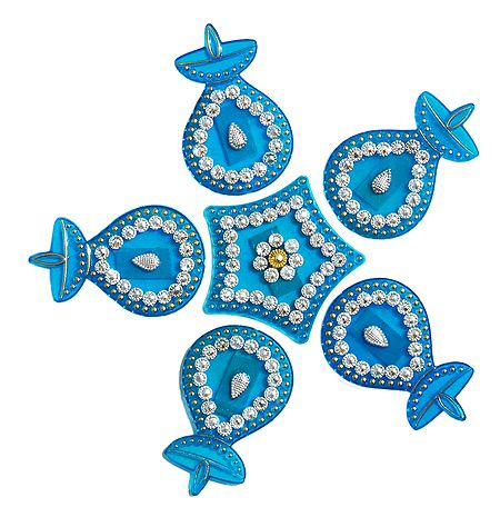 Blue Acrylic Sticker Rangoli