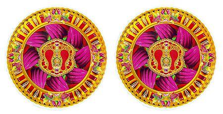 Set of 2 Rangoli Stickers