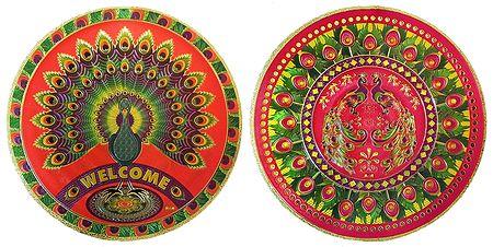 Set of 2 Metallic Paper Sticker Rangoli