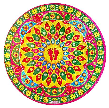 Colorful Print on Glazed Paper Sticker
