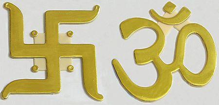 Om and Swastika - Auspicious Hindu Symbols