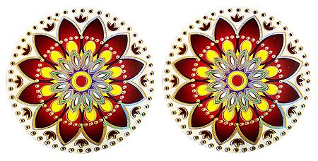 Pair of Sticker Rangoli
