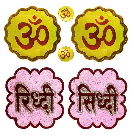 2 Pair of Sticker Riddhi Siddhi and Om
