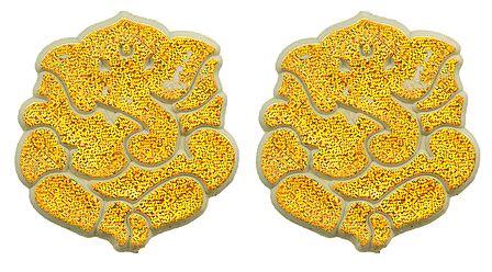 Set of 2 Acrylic Golden Ganesha Sticker