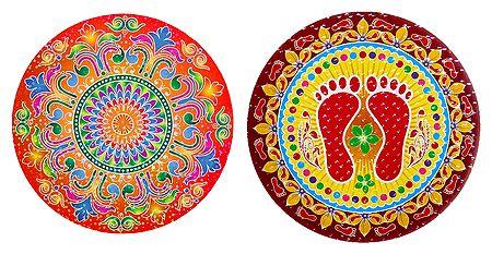 Pair of Rangoli Stickers