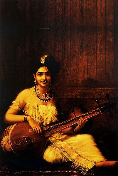 Lady Playing Veena