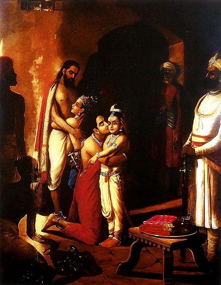 Sri Krishna Liberating His Parents
