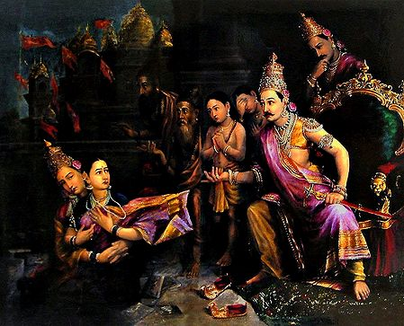 Sita Being Taken Away by Mother Earth