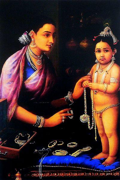 Shringar of Krishna by Yashoda