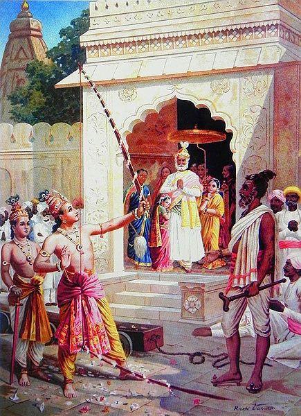 Sri Rama Breaking the Bow to Win Sita as Wife
