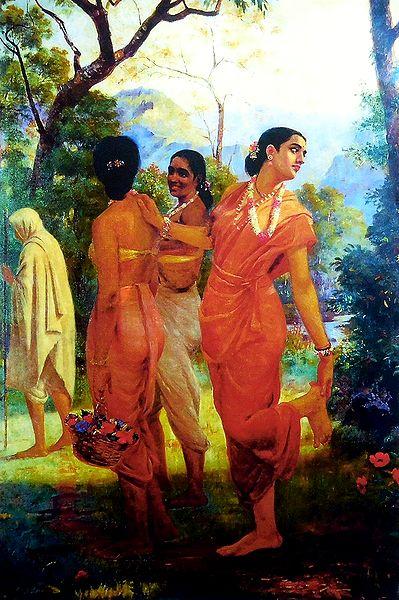 Shakuntala Looks Back at Her Love, Dushyanta