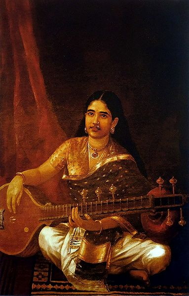 Malayali Lady Playing Veena