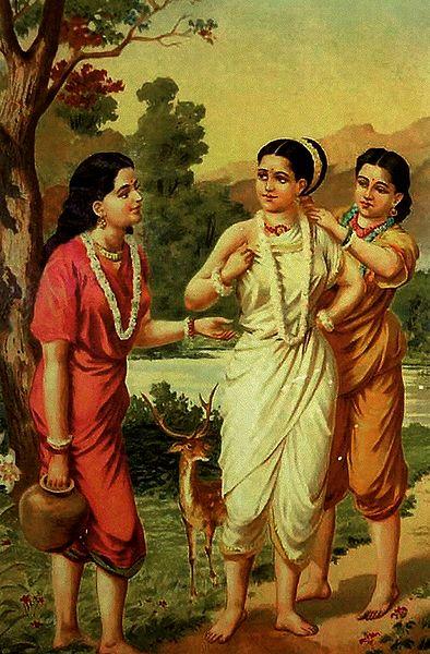 Priyangvada and Anusuya Dress up Shakuntala for Her Wedding