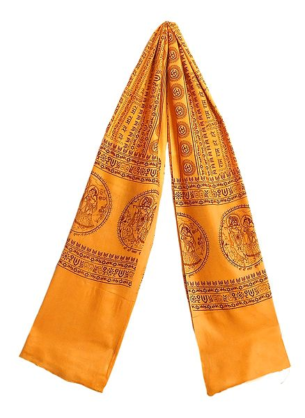 Angavastram with Hare Krishna Hare Rama Print