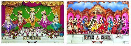 Radha Krishna,Pancha Gosain - Set of 2 Posters