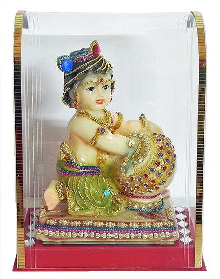 Bal Gopala in a Acrylic Box