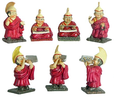 Set of 7 Buddhist Lamas