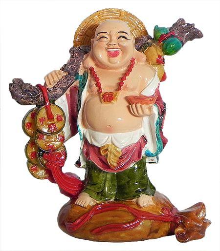 Buy Stone Dust Vaishravana Statue