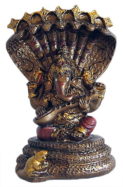 Lord Ganesha Playing Veena