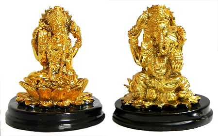 Lakshmi and Ganesha for Car Dashboard
