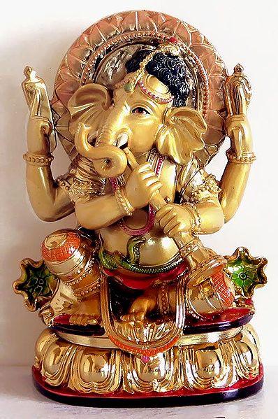 Lord Ganesha Playing Shehnai