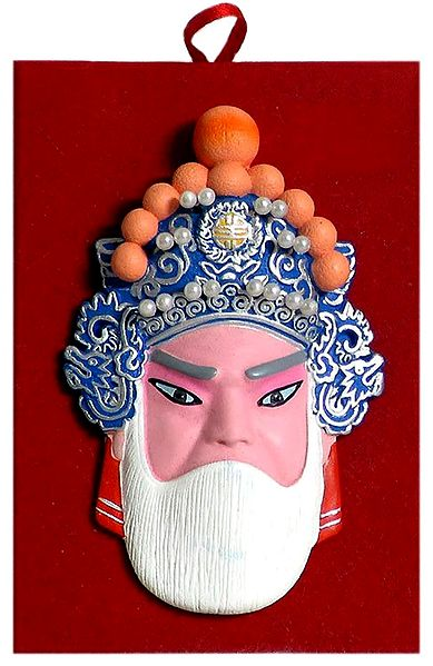 Poly Resin Chinese Opera Face for Wall Decoration