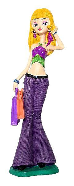 Shopping Mania - Resin Girl Statue