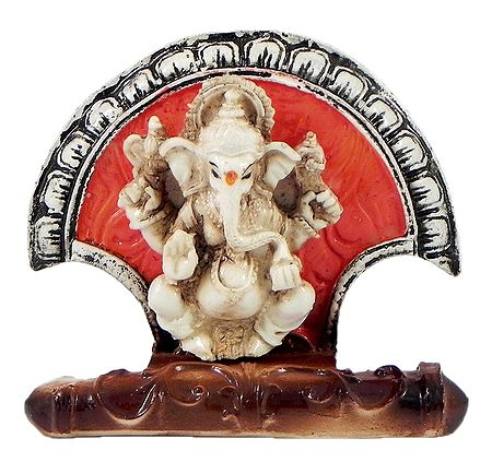 Ganesha Sitting on Fan