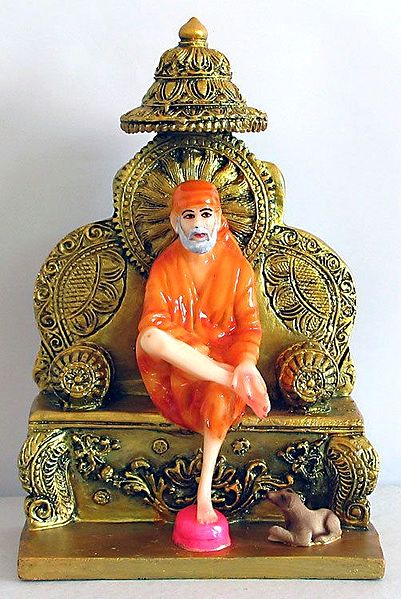Shirdi Sai Baba Sitting on a Throne