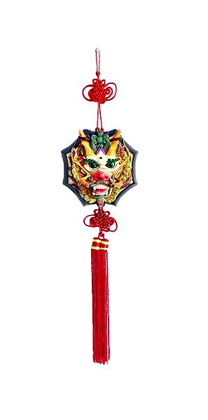 Dragon Face Holding Ball - Wall Hanging