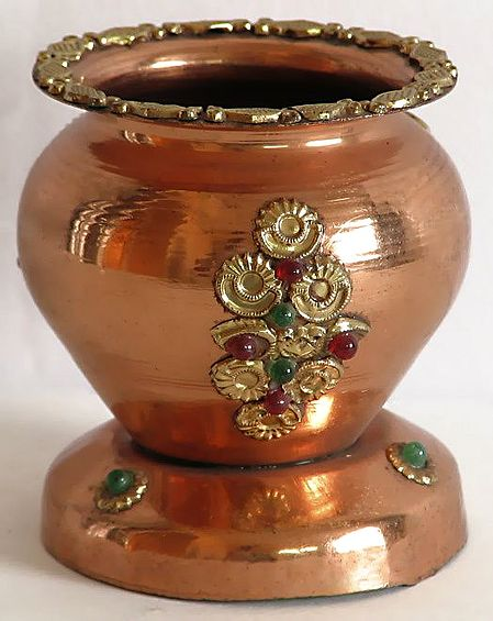 Copper Kalash (Copper Container for Holy Water)