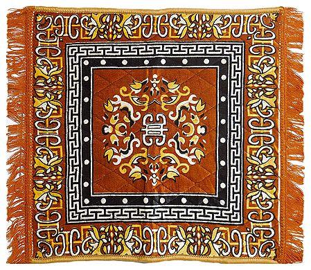 Yellow Velvet Ritual Carpet Mat