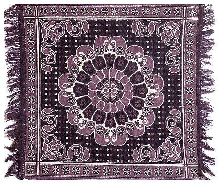 Reversible Dark Mauve Cotton Ritual Mat