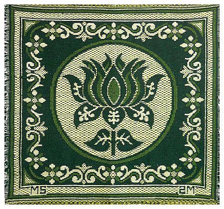 Reversible Lotus Design Cotton Ritual Mat