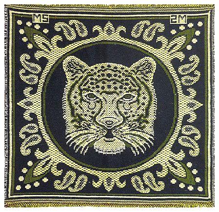 Reversible Tiger Face Cotton Ritual Mat