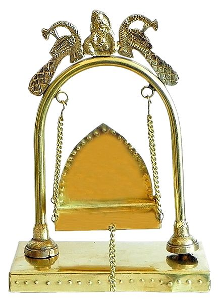 Brass Carving Swing for Deity