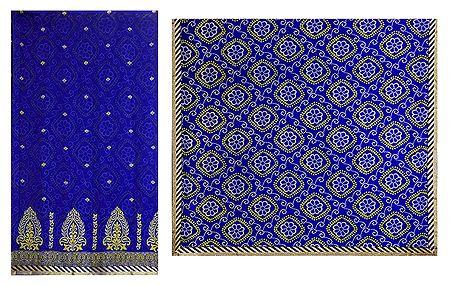 Bandhni Print on Blue Chiffon Saree