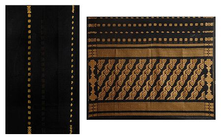 Black Tangail Saree with Gorgeous Pallu