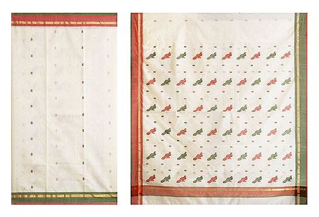 All-Over Boota on Ivory Color Chanderi Saree