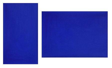 Plain Blue Synthetic Saree