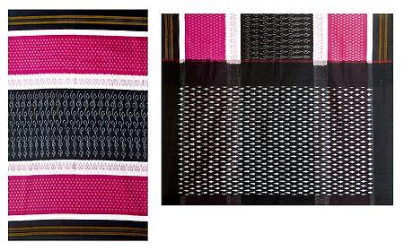 Ikkat Design on Orissa Cotton Saree