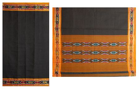 Katki Cotton Saree with Ikkat Design