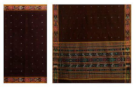 Katki Cotton Saree with Ikkat Design
