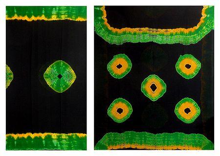 Bandhni Print on Black Chiffon Saree